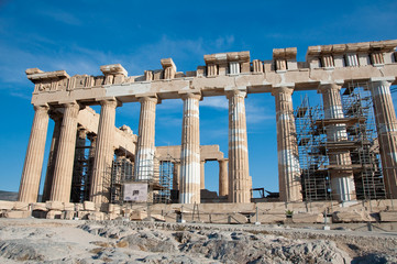 The Parthenon on the Athenian Acropolis, Greece.