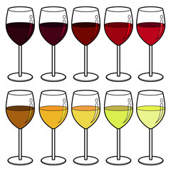 wine colour vector