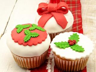 Fototapete - Cupcake de navidad