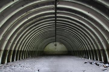 Abandoned former soviet  missile hangar