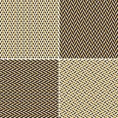 Set of seamless chevron patterns