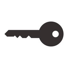Key symbol isolated on white background