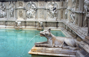 fountain in Siena