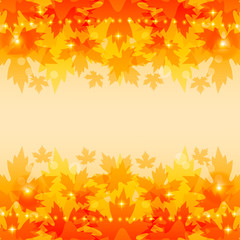 Autumn background with maple leaves.Vector illustration.