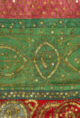 Handmade patchwork from India as background
