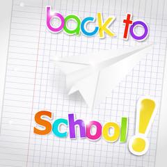 bulle origami : back to school et avion en papier