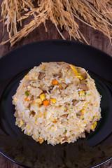 fried rice with roast pork