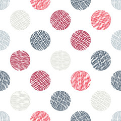 Polka dot texture in doodle style. ion