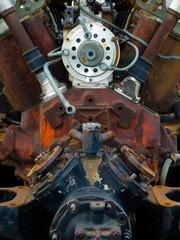 old rusty engine