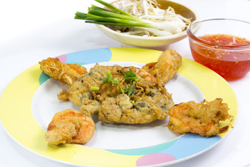 Fried Calamari  breaded served with  sauce