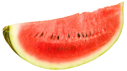 Slice of ripe juicy watermelon