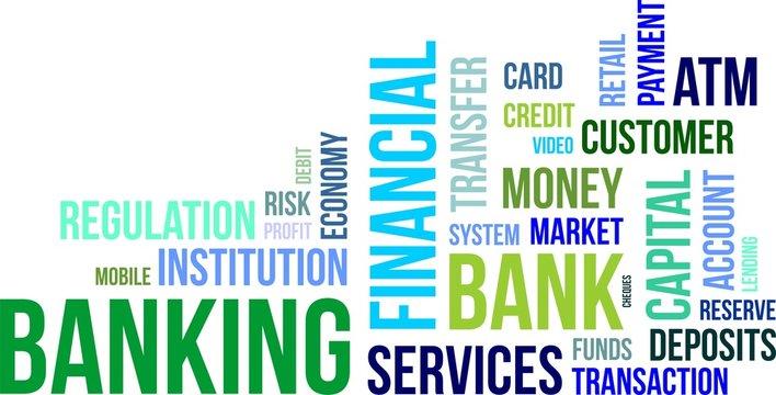 word cloud - banking