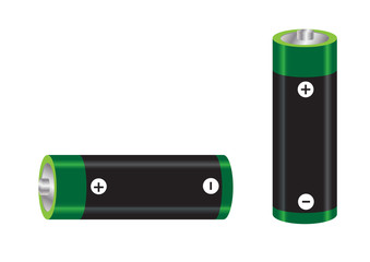AA size battery vector images
