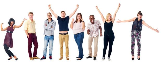 happy diverse people