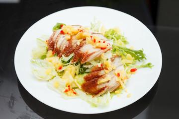 salad with eel