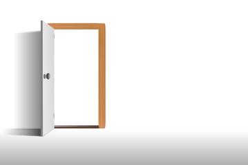 Tür weiße Wand