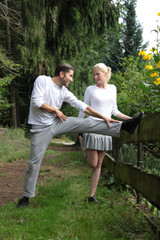 Paar beim Sport