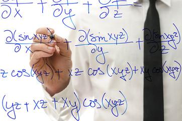 Writing complicated math equation on virtual board