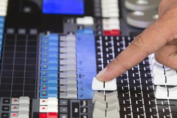 Adjust audio sound mixer in concert