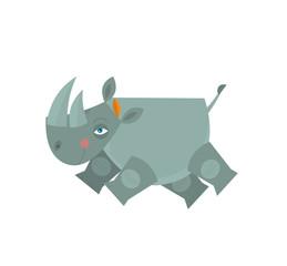 Cartoon rhino - illustration for the children