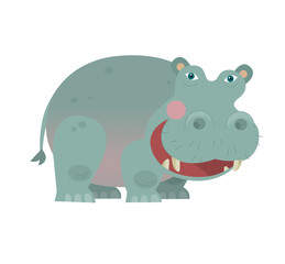 Cartoon hippo - illustration for the children