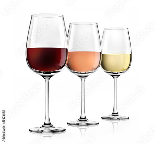 Weingläser Rot 3 weingläser rot rosé weiss stockfotos und lizenzfreie bilder auf