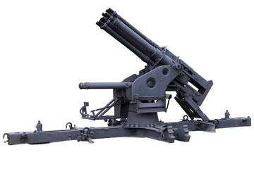multi-barreled anti-aircraft gun