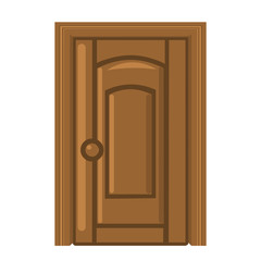 wooden door isolated illustration