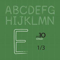 1-3 Set of Chalk Vector Alphabet A-N Editable