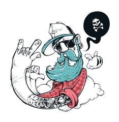 Hipster graffiti illustration