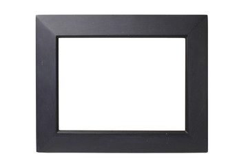 Old Black wooden frame White background