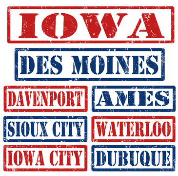 Iowa Cities stamps