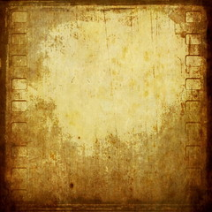 old grunge film strip frame background