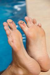 feet in water