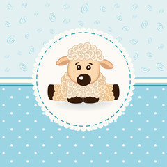 little sheep baby  - vector illustration
