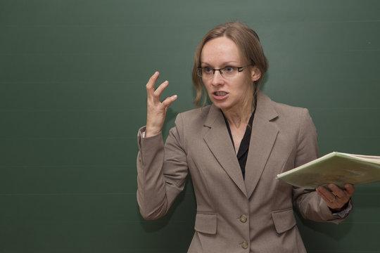 Angry teacher
