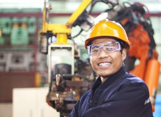 Portrait of happy young engineer