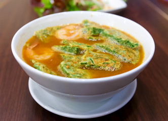 tom yam kung thai cuisine with Vegetable