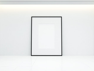 blank poster on white wall