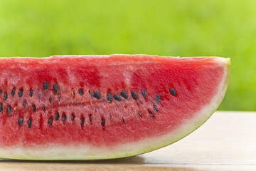 Fresh slice of tasty healthy water melon