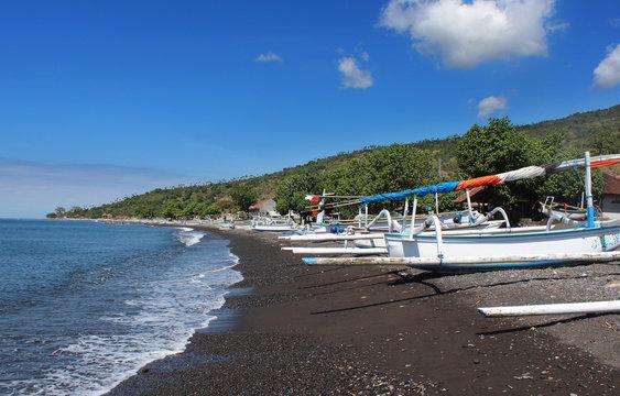Bali - Plage de sable noir (Amed)