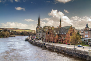 Perth next to the River Tay