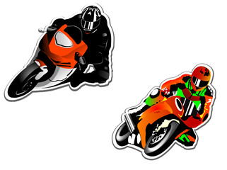 Wall Mural - Motorcycle racers