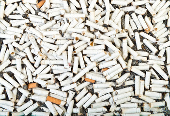 cigarette butts background