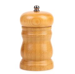 Wooden pepper or salt pot.