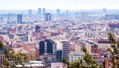 Top view of Barcelona. Catalonia