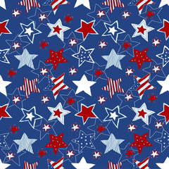 stars and stripes seamless pattern