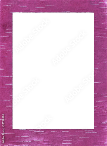 colored birch bark frame\