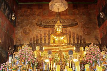 Buddha statue in temple around thailand