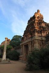 Temple in Hampi, Karnataka state, India.